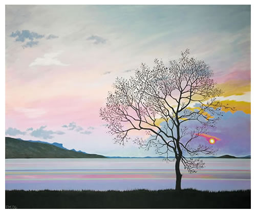 Sunset Tree, Lough Melvin